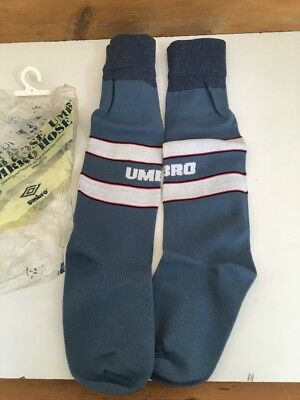 Vintage England Euro 1996 Umbro football socks Hose Kit BNWT Junior Rare Grey