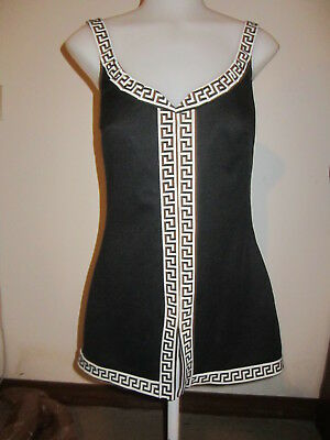 Womens Vintage Swimsuit One-Piece Polyester Perfection Fit By Roxanne 14 /36 B N