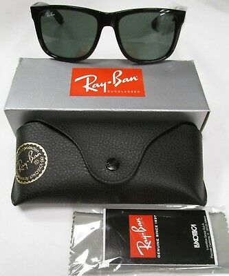 Brand New Authentic Ray Ban RB 4165 JUSTIN 601/71 BLACK Sunglasses