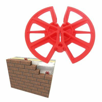 250 x Insulation Retaining Discs Cavity Wall Tie 80mm Clips / Celotex Kingspan