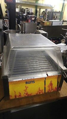 Star 45SCH-DEP Hot Dog Roller Grill w/ Heated Bun Warmer & Sneeze Guard