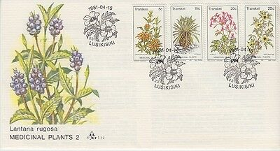 Transkei - Medicinal Plants (2nd Series) (PO FDC) 1981