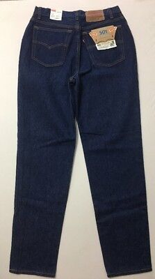 Vtg levis 501 Women's 28x30 High Waist 80's Dead Stock USA Made Tagged Size 13