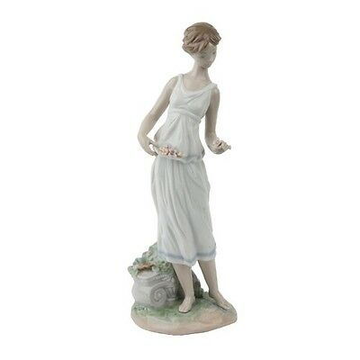 """Lladro """"Flowers for Goddess"""" #7709 Young Girl in Toga with flowers Retired"""