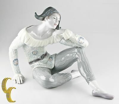 """Lladro Utopia """"Nostalgia"""" Jester Figurine with Original Box and Papers, Great"""