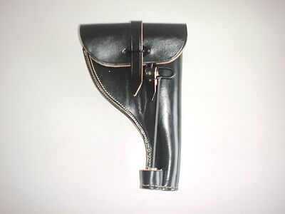 GERMAN ARMY WWII WW2 LEATHER FLARE HOLSTER WITH PUSH ROD dated 1940