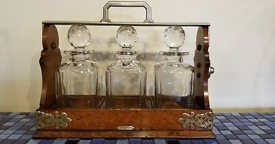 Tiffany & Co  Tantalus made by BETJENANN'S LONDON with Crystal Decanters