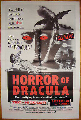 Horror of Dracula-T.Fisher-P.Cushing-Ch.Lee-Hammer-OS Military Re60s (27x41 inch