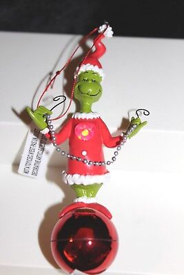 Department 56 Dr. Seuss The Grinch Ornament with Light Up Heart