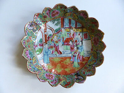SUPERB ANTIQUE 19th CENTURY CHINESE CANTON PORCELAIN PLATE DISH