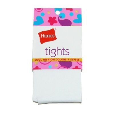 Hanes 71021 Tights Girls Size Small White - One Pair