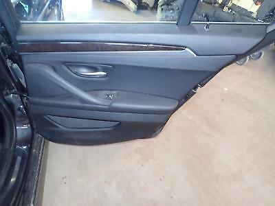 11 12 13 14 15 16 BMW 528i: Right Rear Door Trim Panel Leather Power; Black LCSW