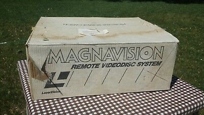 1980s Magnavox Magnavision New In Box NOS Laser Disc Player w/ Cords & Remote