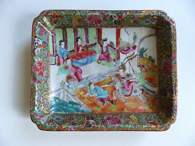 SUPERB BANTIQUE 19th CENTURY CHINESE CANTON PORCELAIN PLATE DISH ( n2 )
