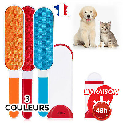Brosse Anti-Poils IHOMY Nettoyage Magique Animal Compagnie Chat Chien 3 Couleurs