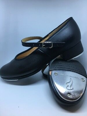 Bloch Ladies Girls Techno Tap Mary Jane Tap Shoes Size 4.5 Matte Leather