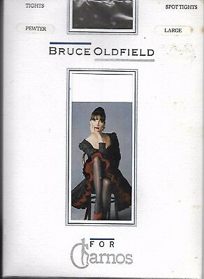 Vintage 1980s Bruce Oldfield for Charnos Pewter Spot Tights