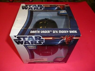 Star Wars Darth Vader Talking SFX Sound Money Coin Bank Box Toy