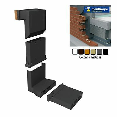 Manthorpe Telescopic Adjustable Underfloor Wall Vent with Airbrick & Extensions