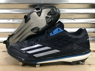 Adidas Boost Icon Metal Baseball Cleats Navy Blue White SZ ( D74249 )