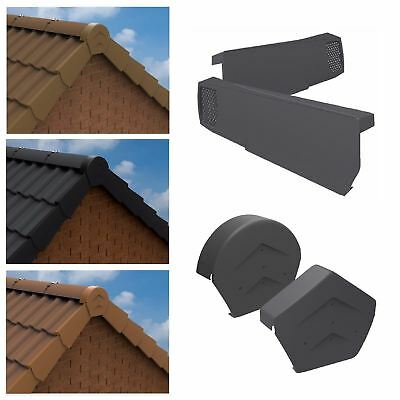 Dry Verge Universally Handed Fast Fit System for Gable Apex Roof Tiles