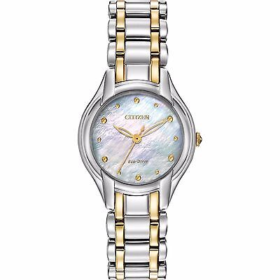 Citizen Eco-Drive Women's EM0284-51N Silhouette 27mm Two-Tone Bracelet Watch