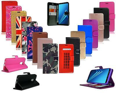 For Samsung Galaxy A6 2018 A600F New Black Leather Flip Wallet Phone Case Cover
