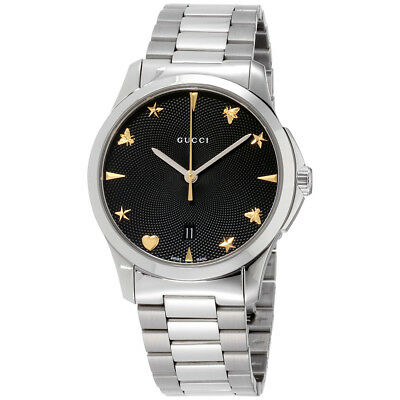 c2c871b14b1 GUCCI G-TIMELESS BLACK Dial Stainless Steel Unisex Watch YA1264029 ...