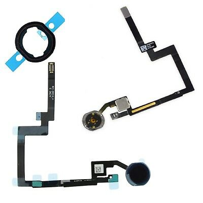 For iPad Mini 3 Home Button Replacement Black Menu Button With Rubber Seal