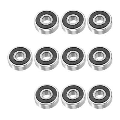 10pcs 628RS 8mmx24mmx8mm Double Sealed Miniature Deep Groove Ball Bearing O6M6