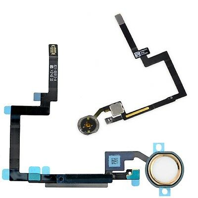 For iPad Mini 3 Home Button Replacement Gold Menu Button With Rubber Seal