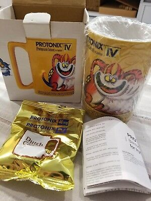 Protonix Iv Pantazaprole Heartburn Antacid Pfizer Drug Sales Rep Coffee Mug, New