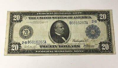 1914 $20 Federal Reserve Bank Note New York