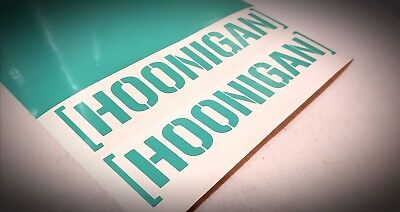 2x Hoonigan Stickers Mutliple Colors and Grid Transfer Tape