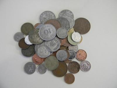 Lot Of 50 Mixed World Coins Various Countries And Denominations-Unsearched