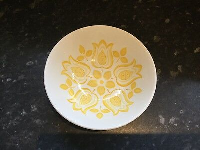 """Rare & Collectable J & G Meakin Yellow """"tulip Time"""" Dessert/ Cereal Dish / Bowl"""