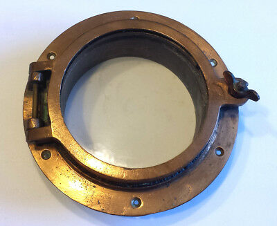 VINTAGE ship's BRASS PORT HOLE / Window / Porthole 6 Inch Glass