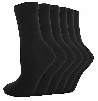 12 Pairs Ladies Gentle Top Socks NON ELASTIC  Soft Cotton Honeycomb Top Size 4-8