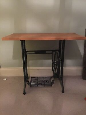 vintage cast iron Singer sewing machine table  upcycle rustic table legs
