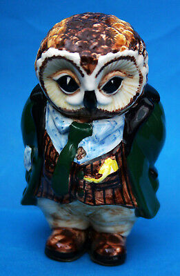 """Rye Cinque Ports Pottery Country Gentleman Figure """"oliver Owl"""""""
