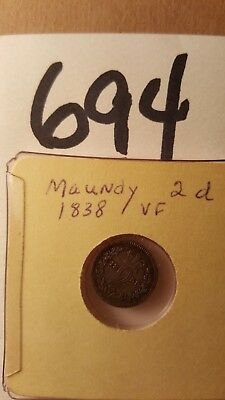 Lot 694 One Maundy 1838 Very Fine Purchased 1/1963