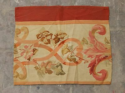 Antique 19thC French Beautiful Hand Made Aubusson Tapestry 50X42cm (A1290)