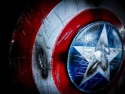 Movie Replica Captain America Shield Battle Damaged