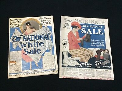 National Cloak and Suit Co 1916 & 1920 Sale Catalogs VTG Fashion Illustrated HTF