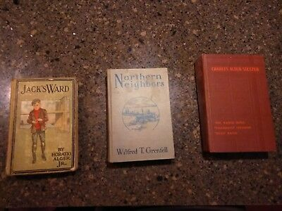 Lot of 3 Antique Collectible Vintage Old Rare Hard To Find Books