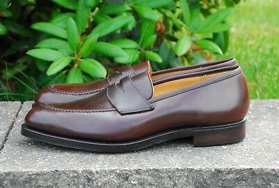 New! 11E / 12D Crockett & Jones Burgundy Shell Cordovan Henley Loafers Harvard