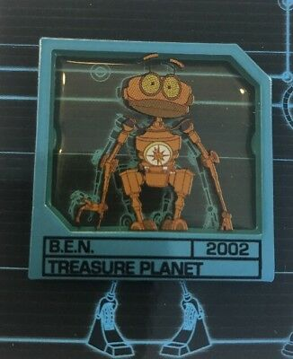 Disney Pin Sci Fi Academy Robots Boxes Set Le 250 Ben Treasure Planet