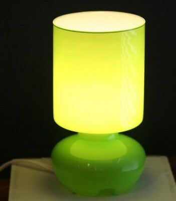 Ikea Lime Green Lykta Glass Table Lamp Retro Style 9 5 Tall