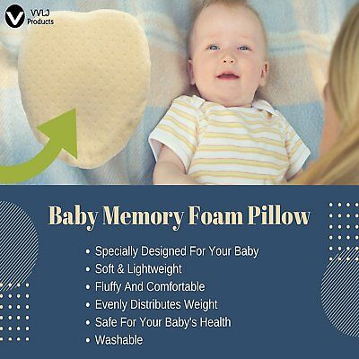 Baby Pillow Soft Head Shaping Pillow With Pillowcase Hypoallergenic Organic
