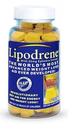 Hi-Tech Lipodrene 100ct  FAT BURNER, WEIGHT LOSS, FREE SHIPPING! HTP